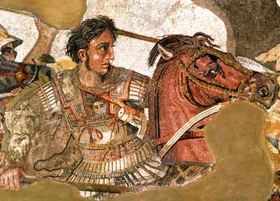 How has the great migration affected the racial composition of the people in the Balkans? Pompeii_art_alexander_great