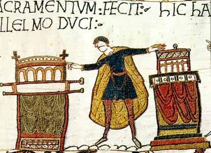 Cinco lobitos... Bayeux_gal_hrld_oath