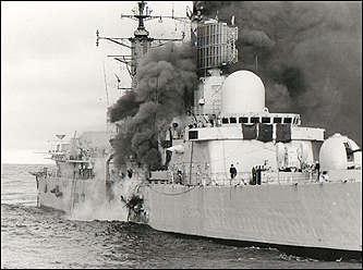 Armando Mayora recuerda el ataque al buque inglés........ Sheffield