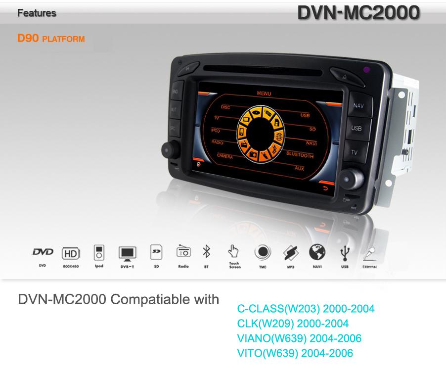 Autoradio & Console Compatible Viano 1 (jusqu'a 2005) !!! DVN-MC2000-D90-BC-ELEC-COM