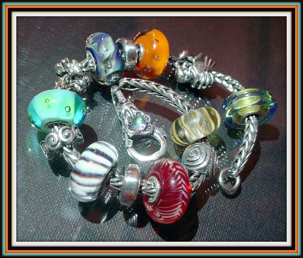 Finally made ​​it! ... My sister's first Trollbeads bracelet Monica10