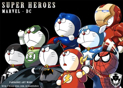 Doraemon Keren [Nyesel ga liat] Doraemon-cosplay-36-super-heroes