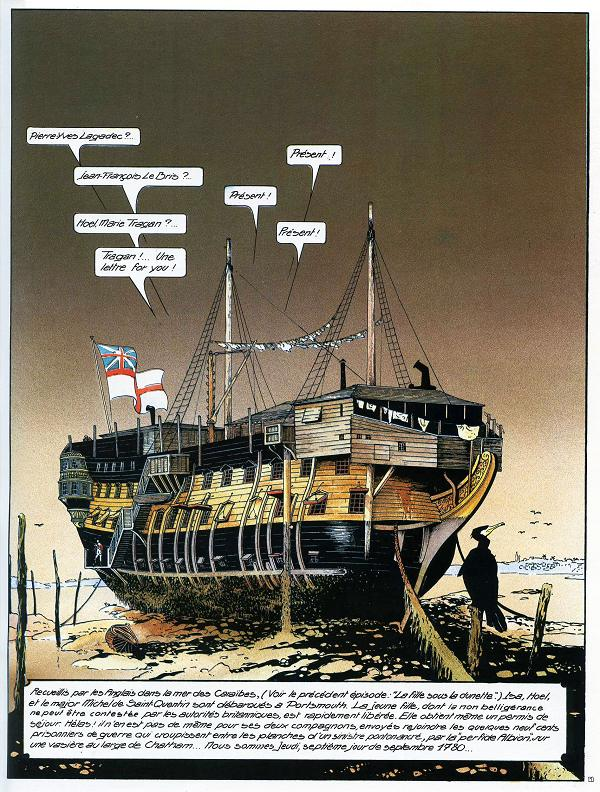 Trouvés les renseignements sur les pontons-prisons anglais des XVIII° et XIX° siècles. Passagersduvents02p_303