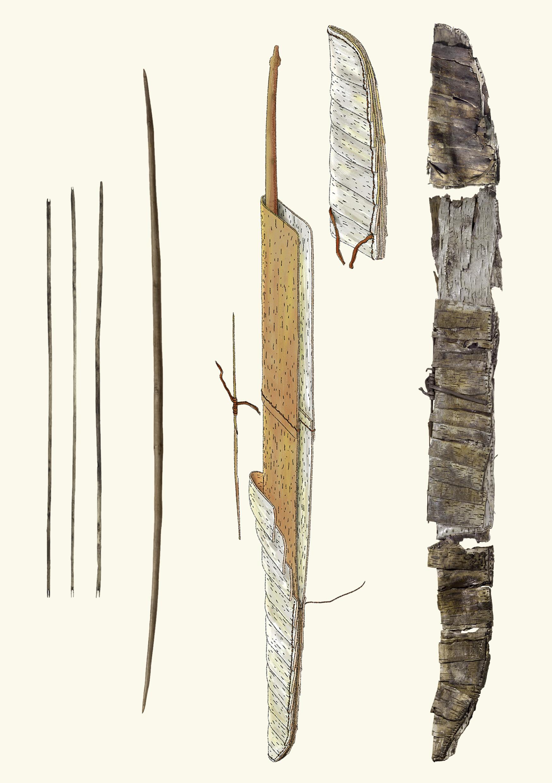 Carquois néolithique ADB_Zeichnung_Bogen_medien