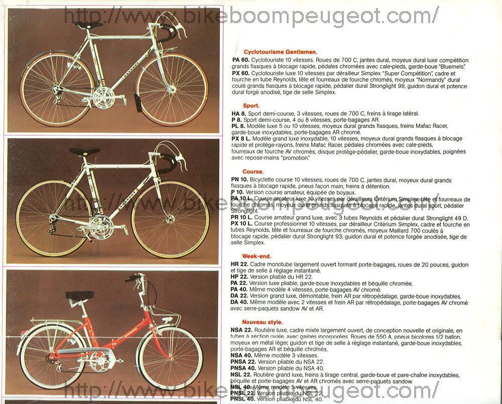 Peugeot PR 10 orange 1970 à 1974 ? Peugeot_1974_Catalog_France_Upper_Right_Panel_BikeBoomPeugeot