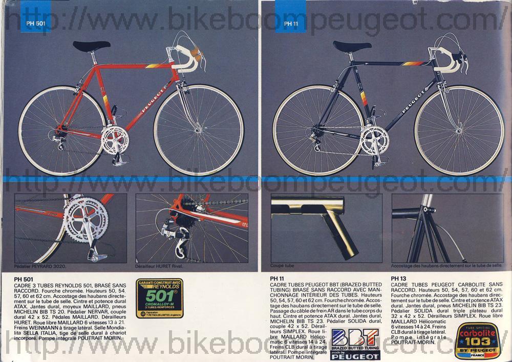 Identification - présentation Peugeot Ventoux Peugeot_France_1985_PH501_PH11_PH13_BikeBoomPeugeot