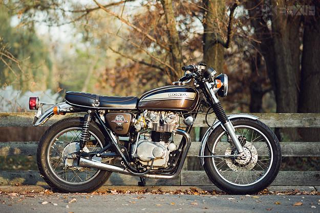 Beau quat' et d'mi Honda-cb450