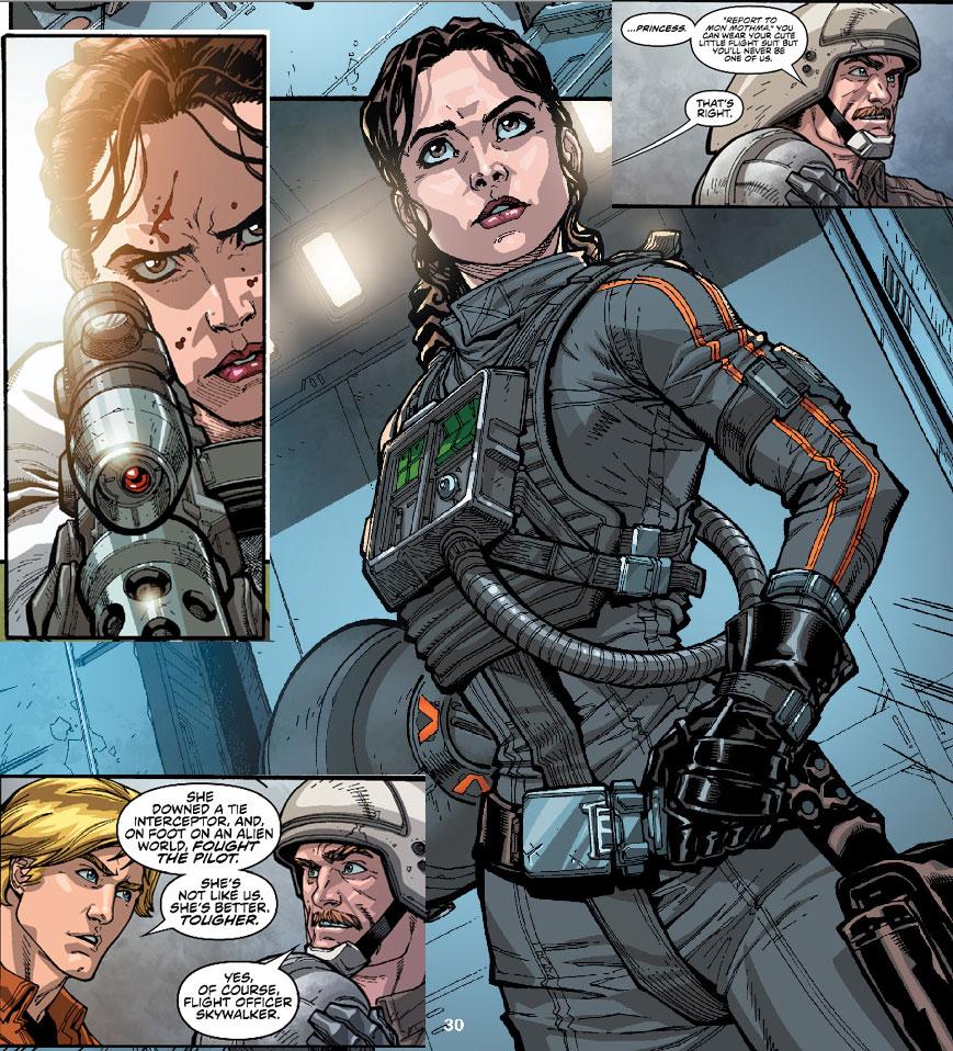 X-Wing Pilot: Leia Organa Llph-3q-1afa