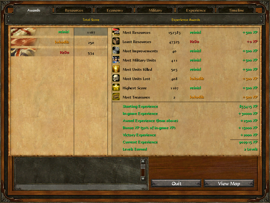 Age Of Empires 3 :: reinisl v kokodils v KeDa :: Post Game Stats 9znydstqjg893ch71ech