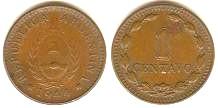Argentina, 1 y 2 Centavos, 1940 y 1939. 1cent