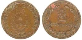 Argentina, 1 y 2 Centavos, 1940 y 1939. 2cent