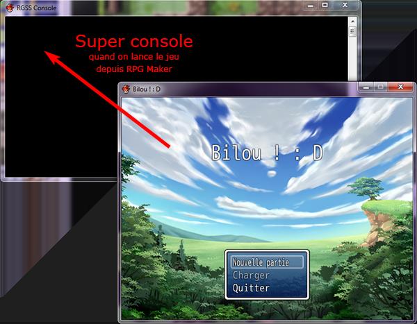 Console comme sous VXAce 2