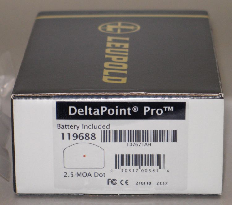 FS: Leupold Delta Point Pro with 2.5 MOA Dot Leu_DPP_02