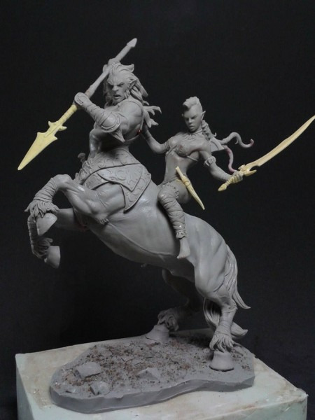 black sun miniatures Centaur-Wild-Elf-RS-1-450x600
