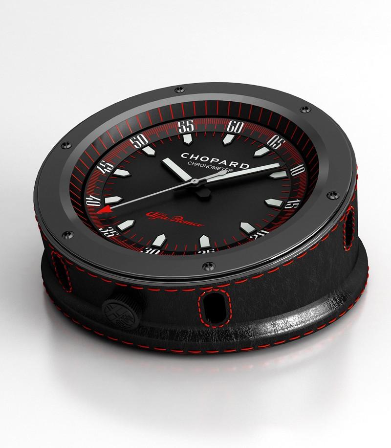 Chopard et Alfa Romeo s'unissent pour leur anniversaire Alfa-romeo-table-clock