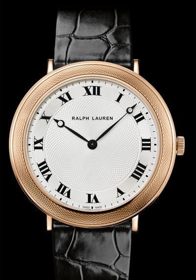Feu des plus belles montres à lunettes guillochées Ralph-lauren-classic-slim-collection-gold-watch