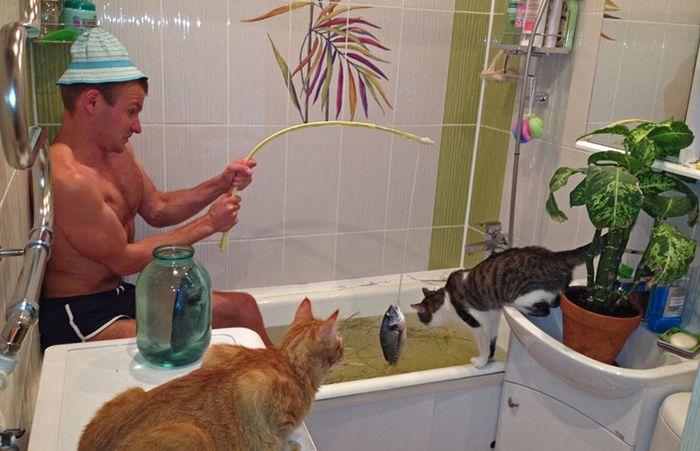 Humore montazhi dhe foto tjera humoristike - Faqe 2 Pescar-casa