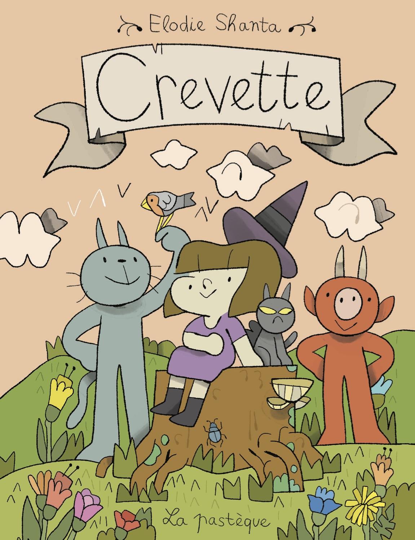 Crevette, la bande dessinée jeunesse d'Elodie Shanta Crevette_couv