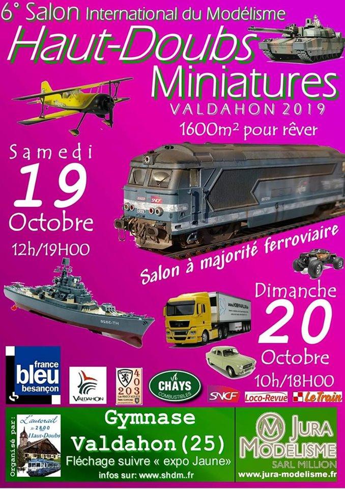 6 ème Salon Haut-Doubs Miniatures - 19 et 20 Octobre - Valdahon (25) SHDM_2019