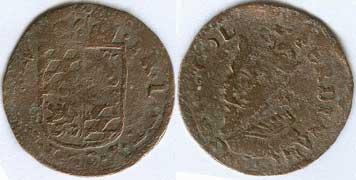 Bélgica (Lieja), 1 liard, Ferdinand Von Bayern (1612-1650). Detnie410