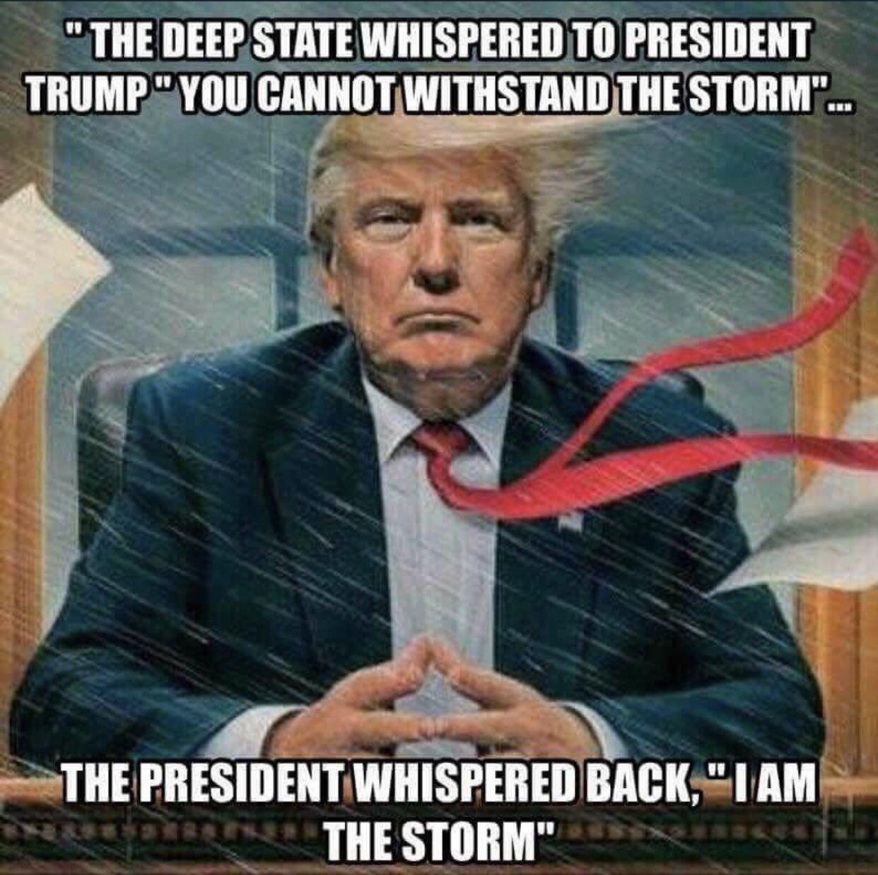 Крушение «Глубинного государства» становится очевидным   Trump-is-the-storm