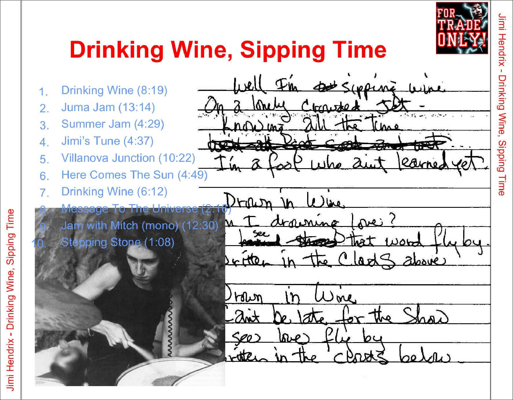 Sippin' Time, Sippin' Wine Dw-st-back