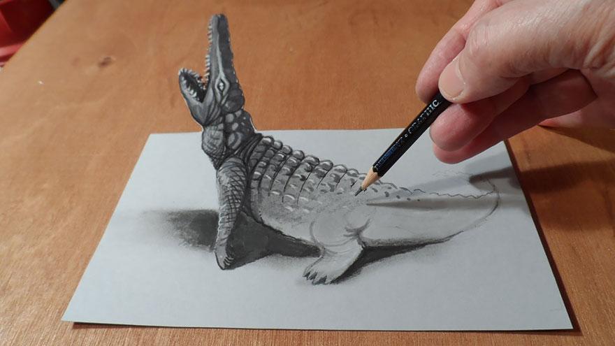رسومات لا تصدق.. 33 رسمة 3d قمة الجمال والروعة مرسومة بقلم الرصاص..  3d-pencil-drawings-101