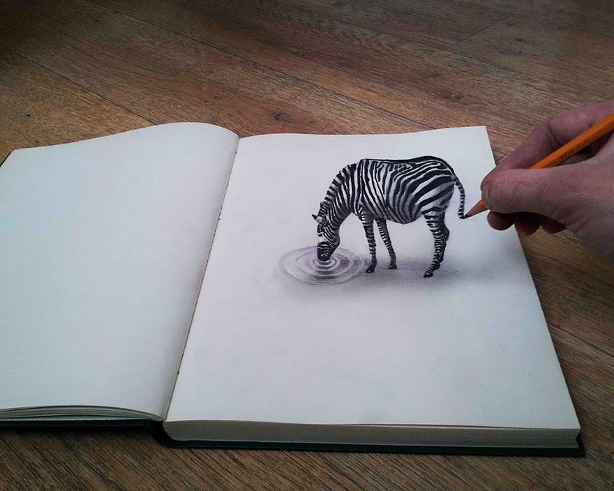 رسومات لا تصدق.. 33 رسمة 3d قمة الجمال والروعة مرسومة بقلم الرصاص..  3d-pencil-drawings-106
