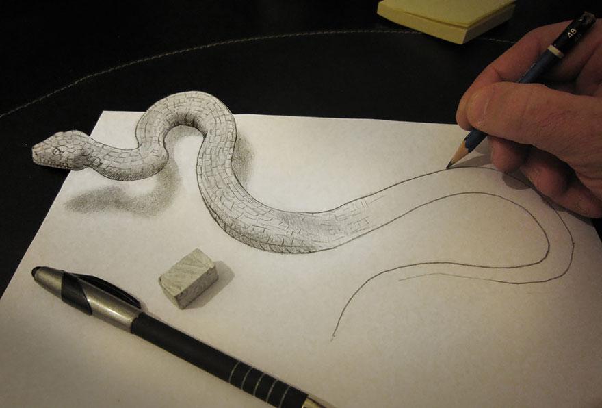 رسومات لا تصدق.. 33 رسمة 3d قمة الجمال والروعة مرسومة بقلم الرصاص..  3d-pencil-drawings-115