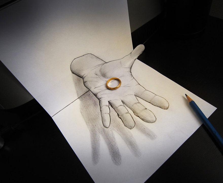 رسومات لا تصدق.. 33 رسمة 3d قمة الجمال والروعة مرسومة بقلم الرصاص..  3d-pencil-drawings-118