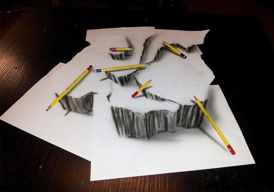 رسومات لا تصدق.. 33 رسمة 3d قمة الجمال والروعة مرسومة بقلم الرصاص..  3d-pencil-drawings-300