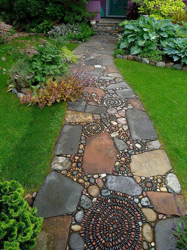 Những con đường lát sỏi đẹp Garden-pebble-stone-paths-13