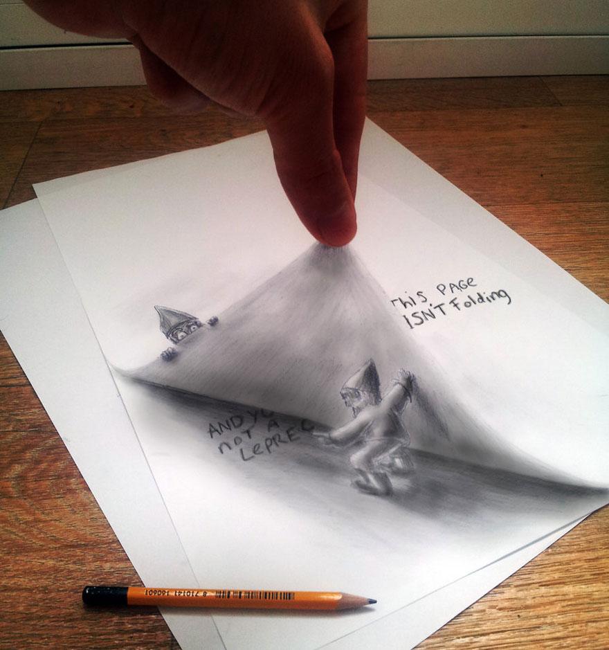 رسومات لا تصدق.. 33 رسمة 3d قمة الجمال والروعة مرسومة بقلم الرصاص..  3d-pencil-drawings-13