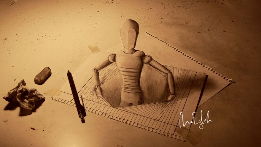 رسومات لا تصدق.. 33 رسمة 3d قمة الجمال والروعة مرسومة بقلم الرصاص..  3d-pencil-drawings-17