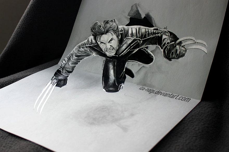 رسومات لا تصدق.. 33 رسمة 3d قمة الجمال والروعة مرسومة بقلم الرصاص..  3d-pencil-drawings-2