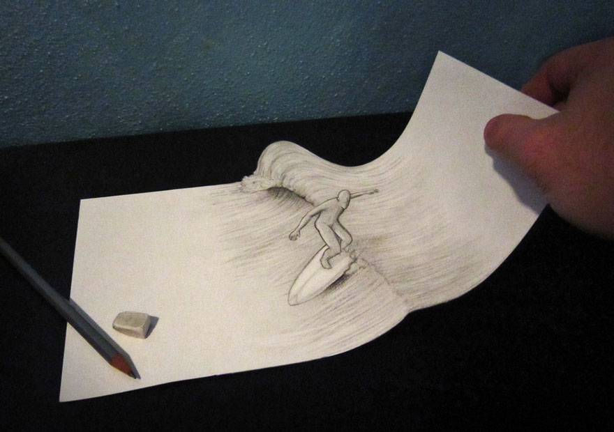 رسومات لا تصدق.. 33 رسمة 3d قمة الجمال والروعة مرسومة بقلم الرصاص..  3d-pencil-drawings-21