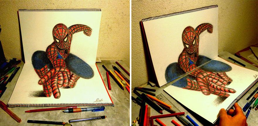 رسومات لا تصدق.. 33 رسمة 3d قمة الجمال والروعة مرسومة بقلم الرصاص..  3d-pencil-drawings-27