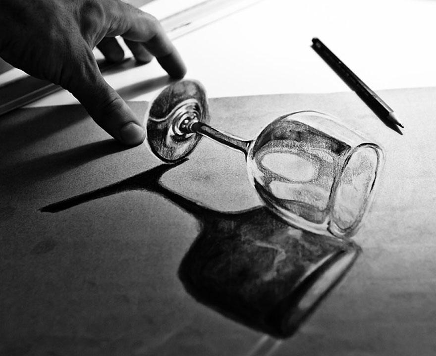 رسومات لا تصدق.. 33 رسمة 3d قمة الجمال والروعة مرسومة بقلم الرصاص..  3d-pencil-drawings-28
