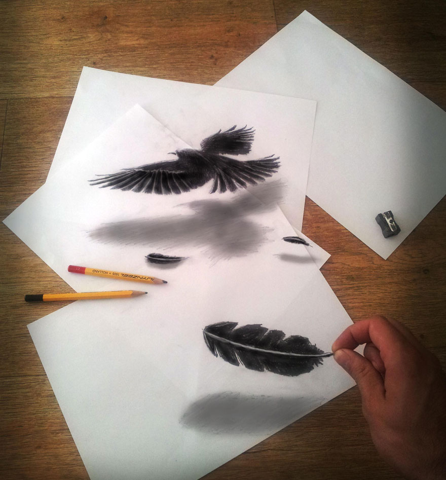 رسومات لا تصدق.. 33 رسمة 3d قمة الجمال والروعة مرسومة بقلم الرصاص..  3d-pencil-drawings-31