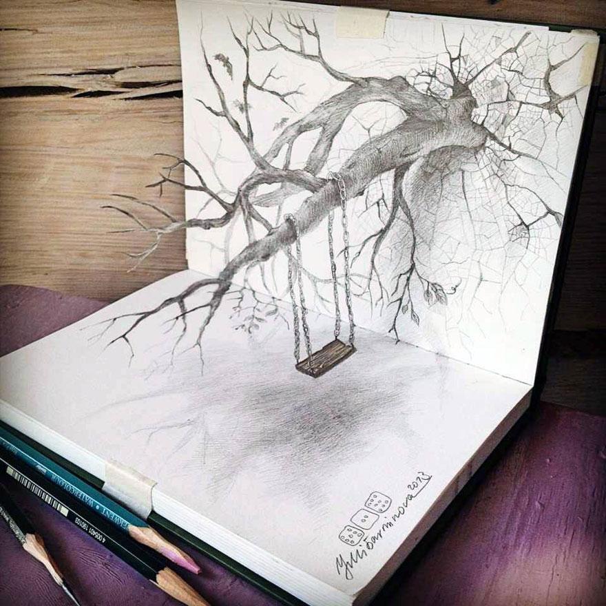 رسومات لا تصدق.. 33 رسمة 3d قمة الجمال والروعة مرسومة بقلم الرصاص..  3d-pencil-drawings-32