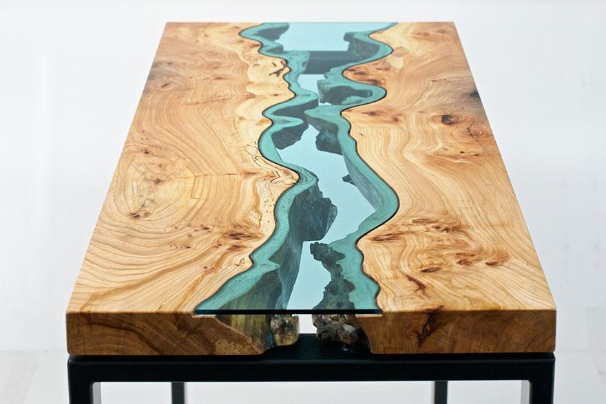Mesa con río de vidrio Creative-table-design-18