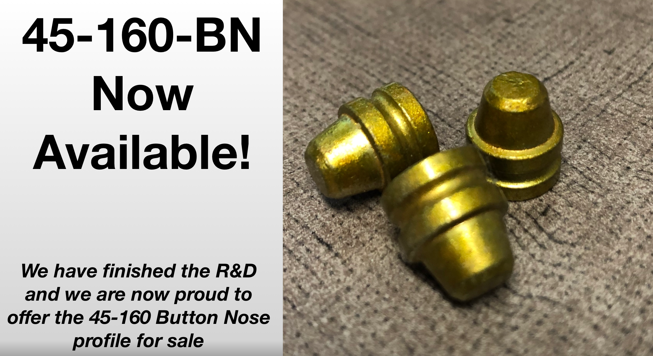 45-160-BN-FB now available sized! 45-160-BN