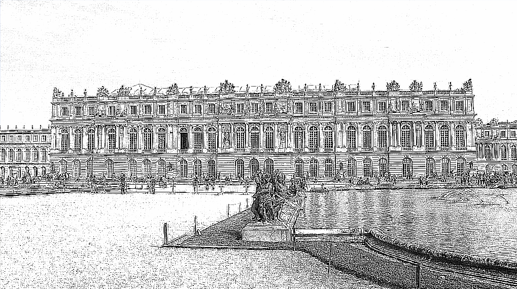 Effet dessin au trait Versailles2