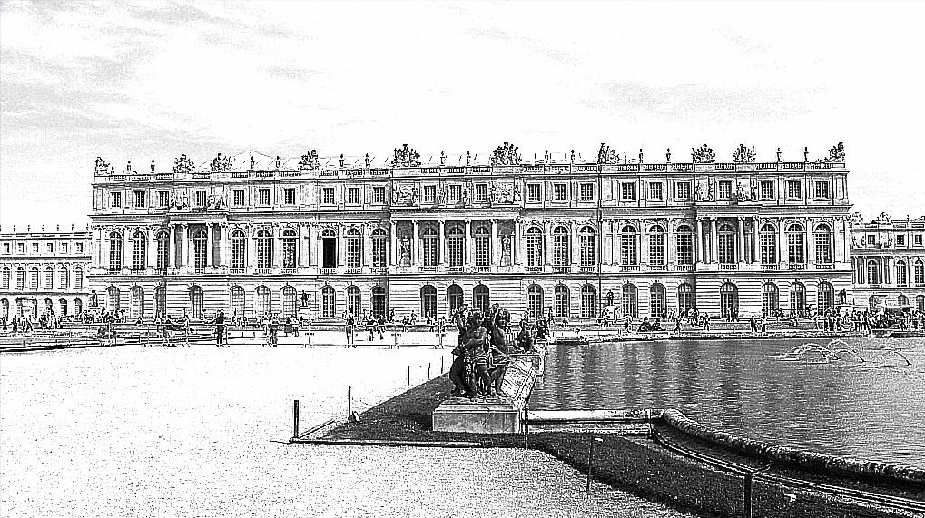 Effet dessin au trait Versailles3