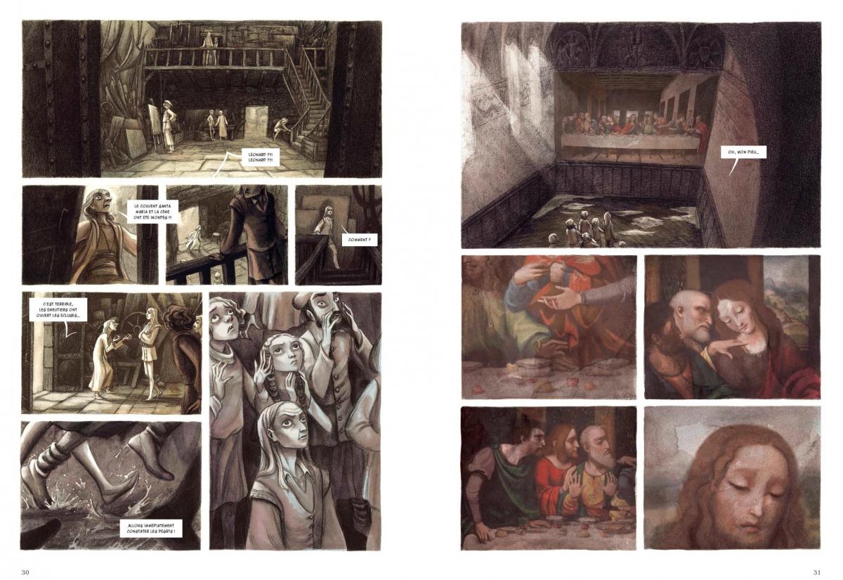 LACOMBE Benjamin & ECHEGOYEN Paul - IL SALAÏNO - Tome 1 : Léonard et Salaï Planches