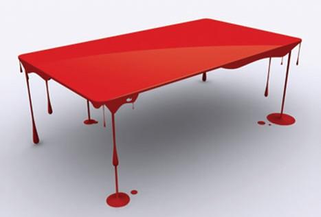 طاولات غريبة ،، عجيبة !!!!!!!! DrippingPaintTable