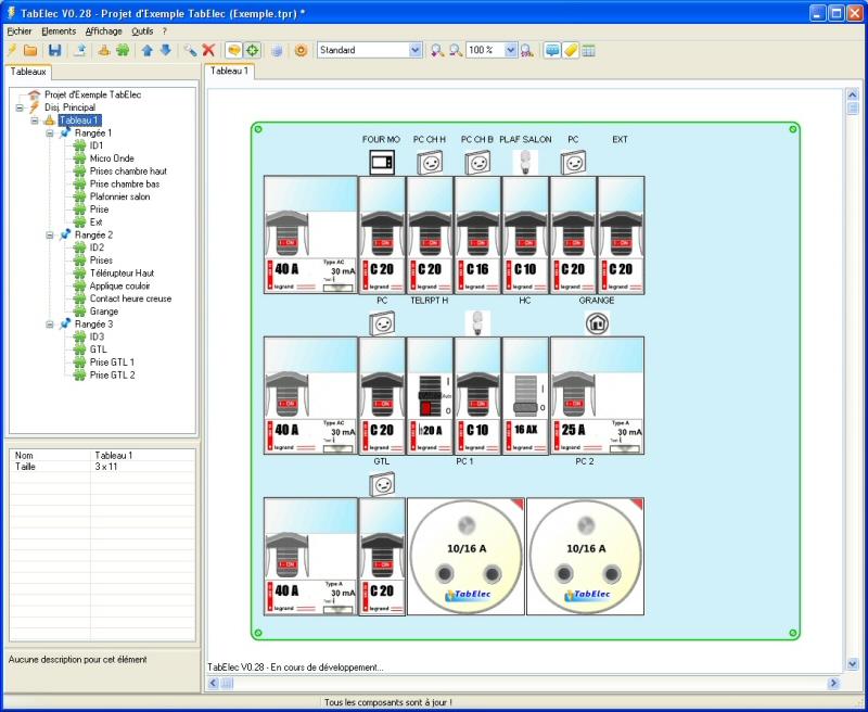 برنامج جديد للمساعدة في تصميم لوحات المفاتيح Tabelec-gratuit