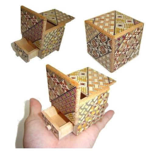Japanska puzzle box - kutija tajni J204CDR-2Sun_Cube_Drawer_L1