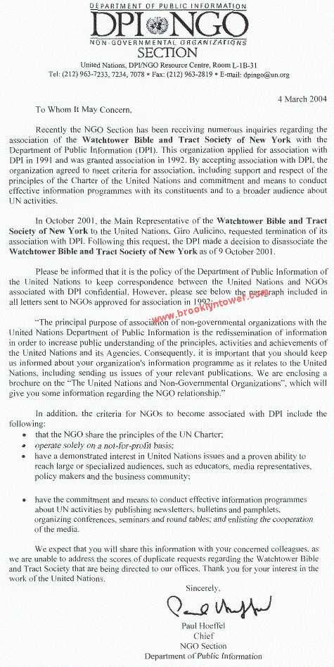 Le lien des Témoins de Jéhovah avec l'ONU  Onu-un-1