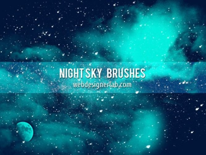[Brushes] Night Sky  481-night-sky-free-brushes